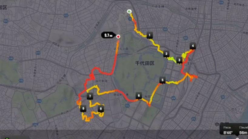 *Joseph Tame用GPS路線在地圖上創作畫鞋子:RUN LIKE ME NIKE+ 3