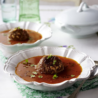 Fresh Tomato and Meatball Soup.