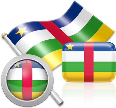 Central African flag icons pictures collection