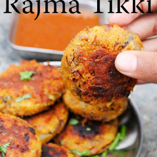 Red Kidney Bean Tikki - Red Kidney Bean Cutlet
