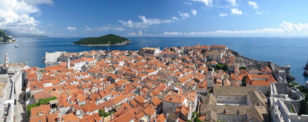Blick von der Minceta Festung über Dubrovniks Altstadt