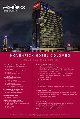 JOB OPENINGS AT MÖVENPICK HOTEL COLOMBO MULTIPLE POSITIONS