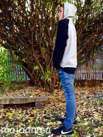 hoodie,kapuzenpullover,mojoanma,probenähen