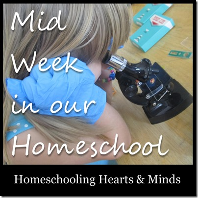 Mid week in our homeschool at Homeschooling Hearts & Minds