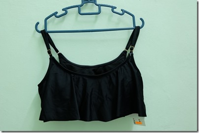 plain black swimming top from Cotton On
