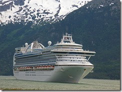 Cruise Ship leaving Skagway