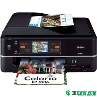 How to reset flashing lights for Epson EP-901A printer