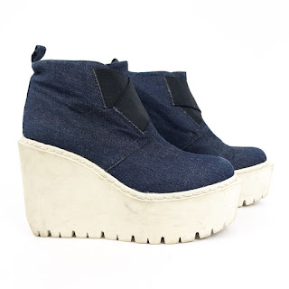 Opening Ceremony Denim Platform Boots