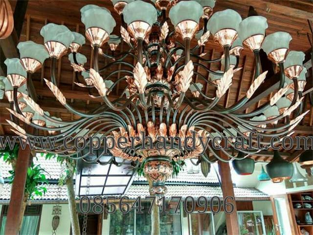 Kerajinan-Lampu-Gantung-Robyong-Tembaga-Kuningan