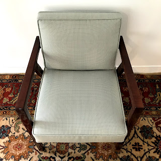 Edward Wormley Style Mahogany Armchair