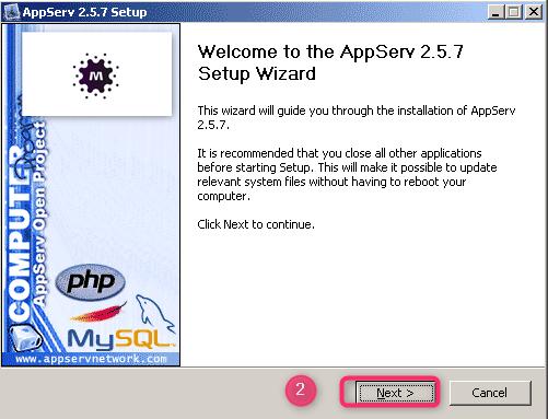 شرح تثبيت السيرفر المحلي AppServ على جهازك