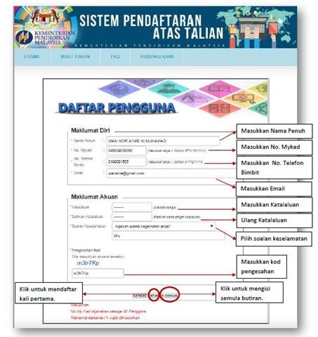 PANDUAN SISTEM PENDAFTARAN ATAS TALIAN TAHUN 1 4