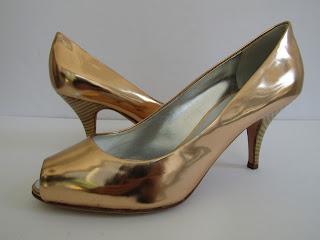 Giuseppe Zanotti Metallic Peep-Toe Shoes
