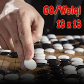 Go or Weiqi Game Board 13x13