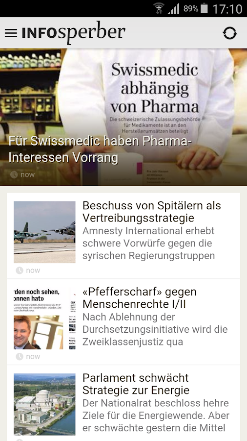 Infosperber- screenshot