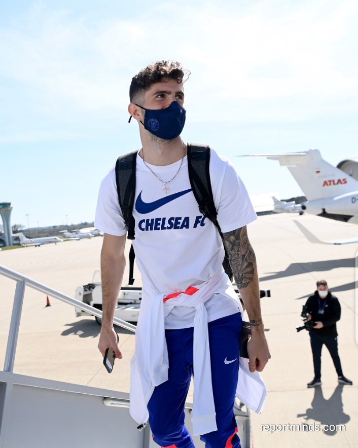 Photos: Pulisic, Mendy, Callum Hudson-Odoi seen boarding the plane as Chelsea travel to Spain to face Real Madrid