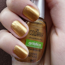 Esmalte metálico dourado