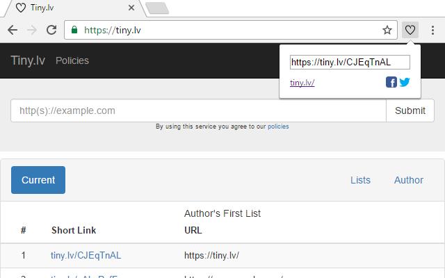 Tiny.lv's URL Shortener