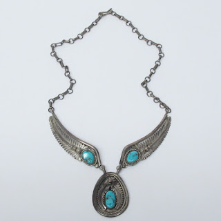 D. K. Lister Sterling Silver & Turquoise Necklace