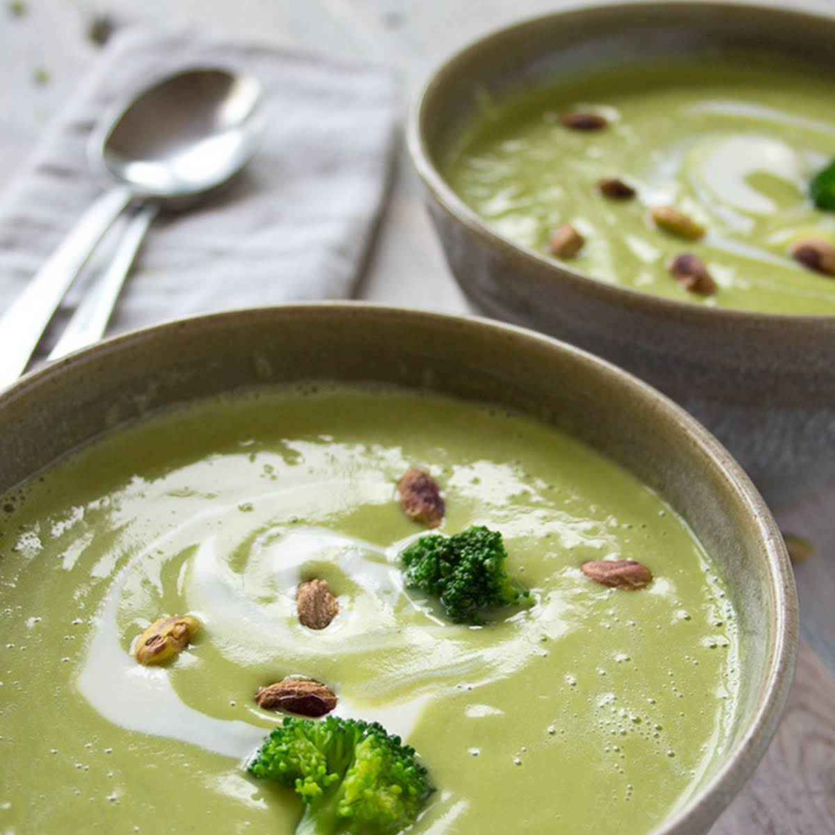 Broccoli Pistachio Soup