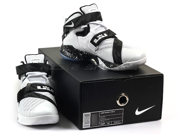 This Premium White and Black LeBron Soldier 9 Already Dropped in Asia