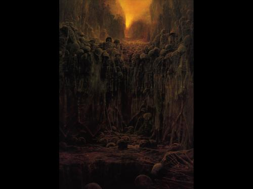 Zdzislaw Beksinski Dead Wall, Death