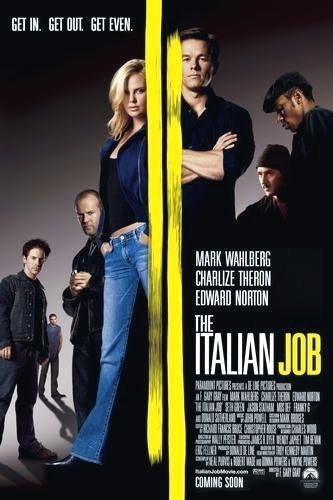 Poster Of The Italian Job (2003) Full Movie Hindi Dubbed Free Download Watch Online At Alldownloads4u.Com