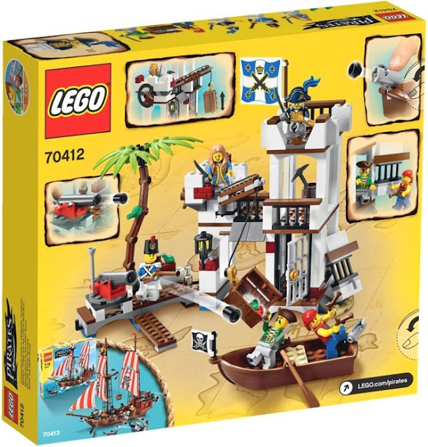 Lego Pirates 70412 Soldiers Fort Pháo đài phòng thủ