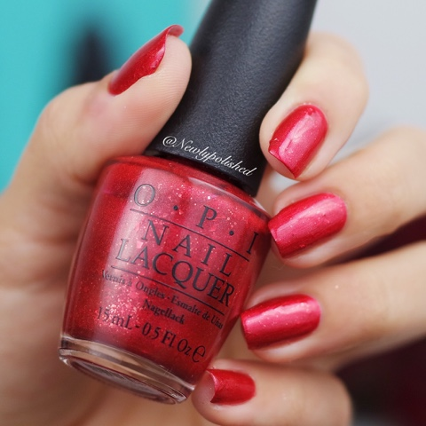 OPI Fire Escape Rendezvous - Breakfast at Tiffany's Holiday Collection 2016 Swatch