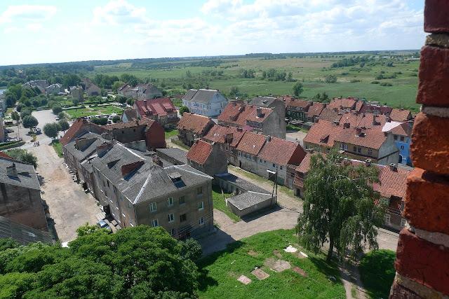 Gerdauen, Железнодорожный, город сверху