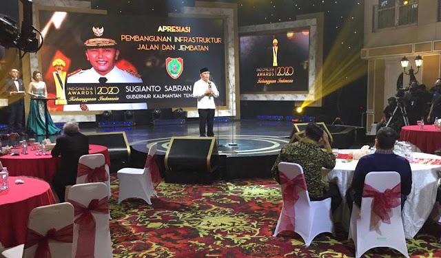 Mantap, Sugianto Dapat Penghargaan Tokoh Infrastruktur