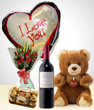 Regalos san valentin: Oso peluche, rosas, y regalos