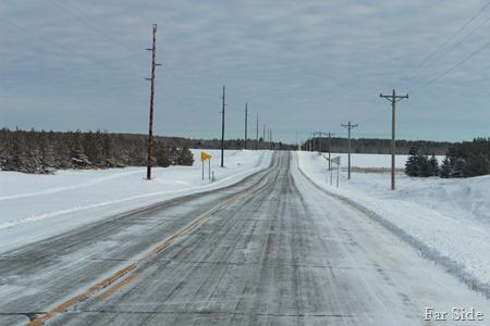 Roads were slippery