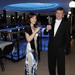 Pravidelní návštěvníci plesu a jedni z iniciátorů prvního ročníku před třemi lety, pan Šimr s partnerkou.