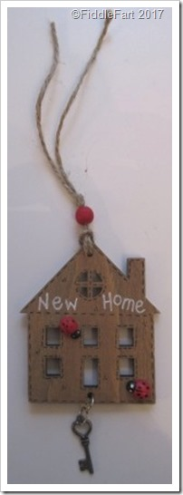 Wooden House Shaped New Home Gift Tag