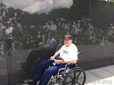 Dad at The Korean War Memorial May 2016