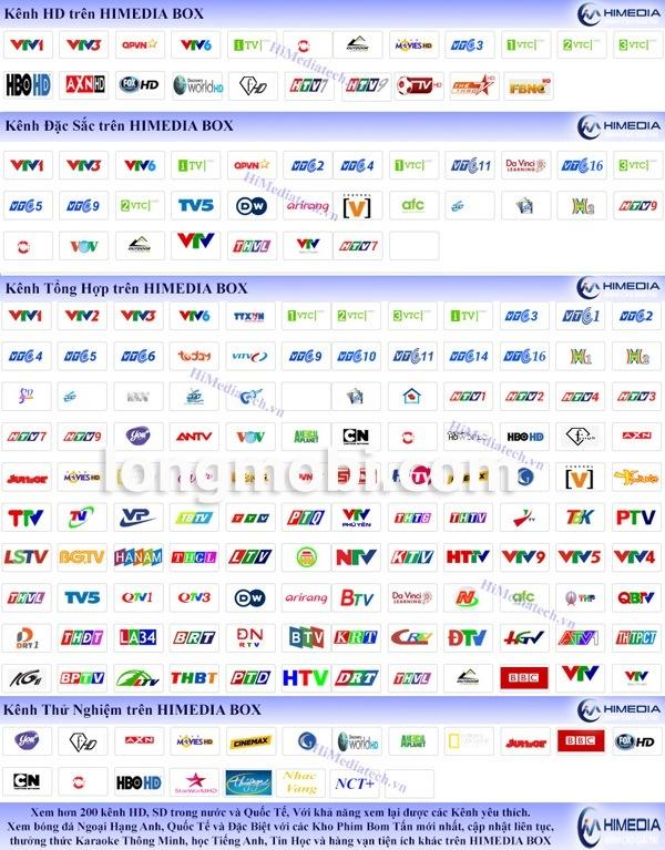 Chương trình truyền hình miễn phí trên Himedia box