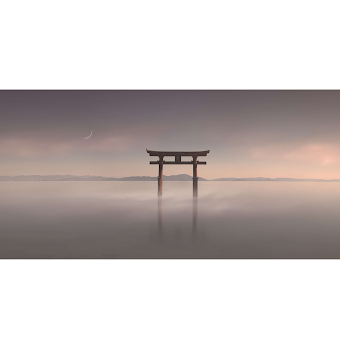 Eriko Kaniwa, 山紫水明 ・月 / The scenic Beauty-Moon