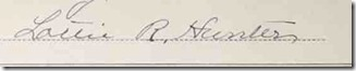 signature of Lottie R Hunter-12 May 1887