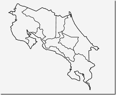 3.c. Mapa de Cartago en Costa Rica. Para colorear