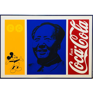 Richard Montoya Signed 'Mickey Mao' Lithograph