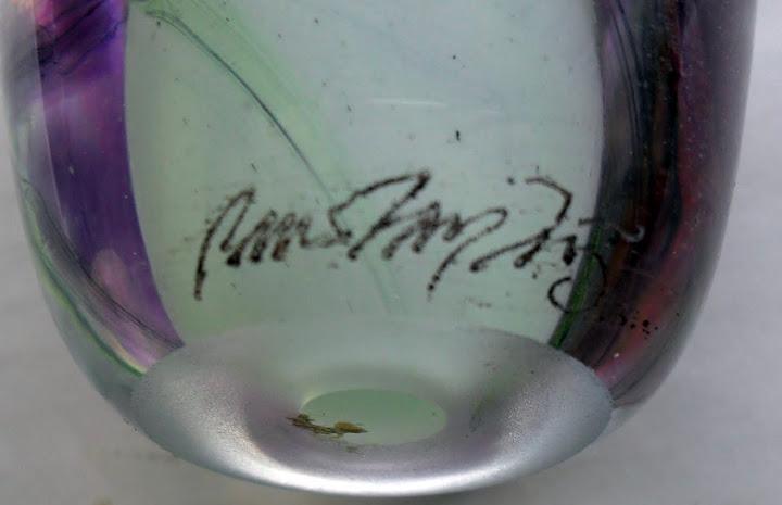 Bullet shape floral signed 1975 Scandinavian?