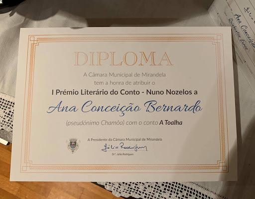 I PRÉMIO LITERÁRIO DO CONTO NUNO NOZELOS