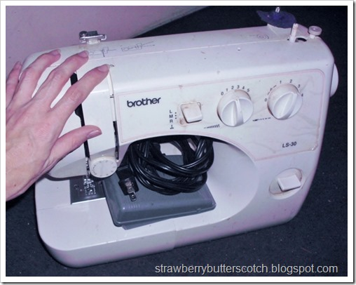 Saying goodbye to the old sewing machine and hello to the new one.