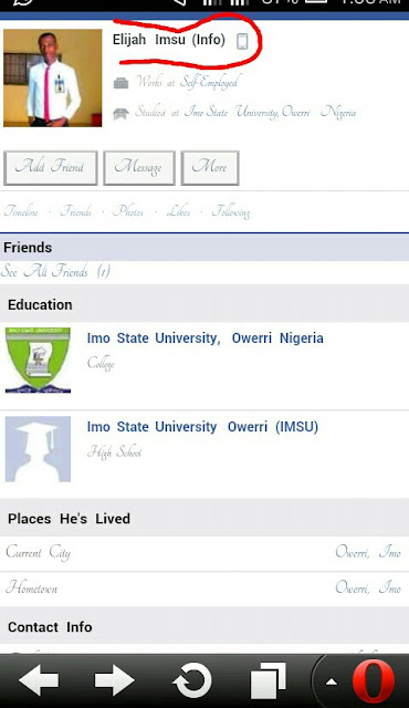 DISCLAIMER: FAKE FACEBOOK ACCOUNT OF IMSU ELIJAH