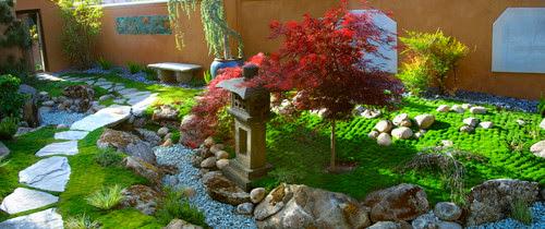 Ковер из мхов в японском саду