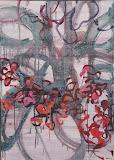 Giardini en rose et rouge 2 50X70, huile/toile