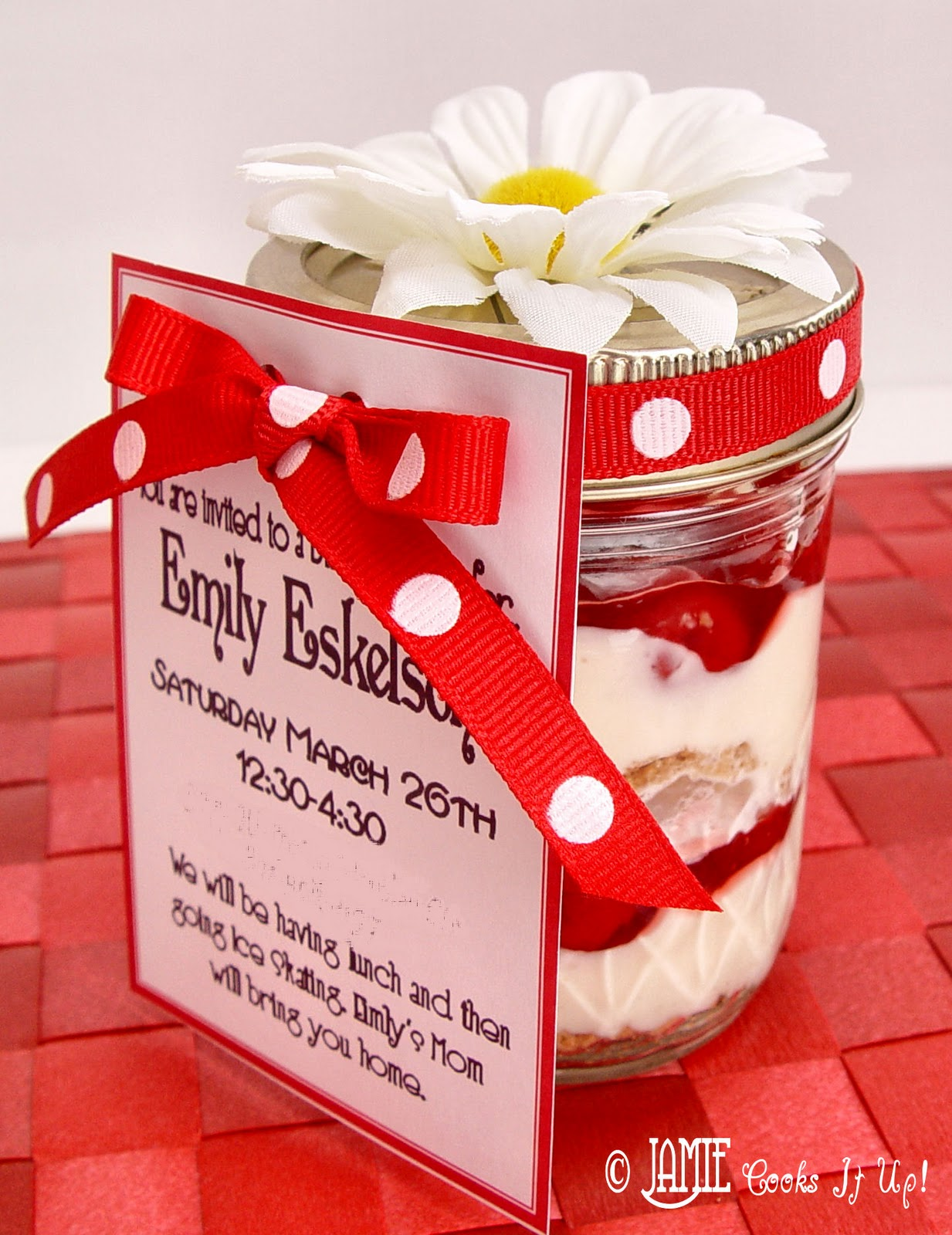 Cherry Cheesecake in a Jar! | Jamie Cooks It Up - Family Favorite ...