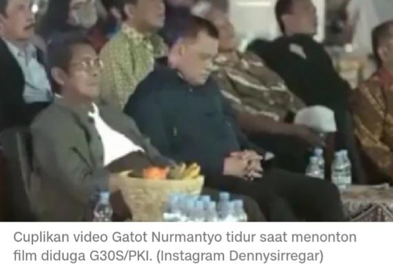 Ironis! Suarakan Anti PKI, Gatot Nurmantyo Malah Tidur Saat Nonton G30S, DS: Wong Dia Sendiri Aja Bosen...