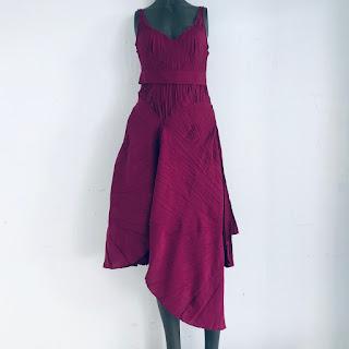 Marie Saint Pierre Burgundy Dress